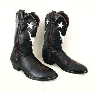 Laredo black white cowboy boots size 6